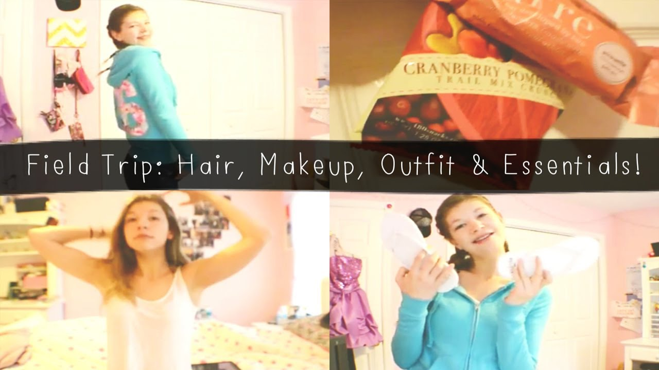 field trip: hair, makeup, outfit & essentials!