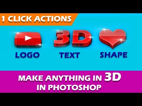 Photoshop Actions  1 Click Automatic Any 3D Text Effects 2019