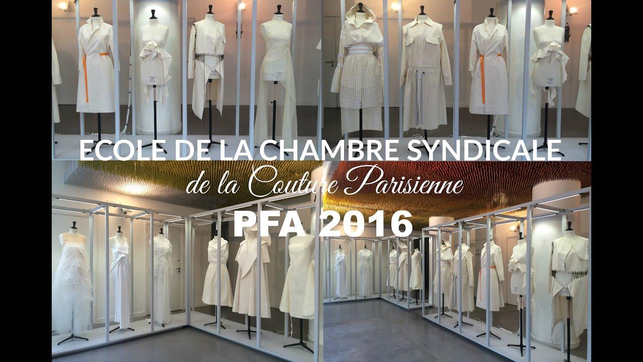 fashion school chambre syndicale de la couture parisienne ecscp pfa 2016 youtube. Black Bedroom Furniture Sets. Home Design Ideas