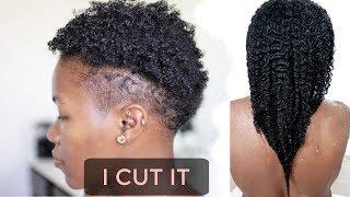 🛑I CUT MY HAIR Again - 2nd BIG CHOP - Back To Short Fine Natural Hair Again😱