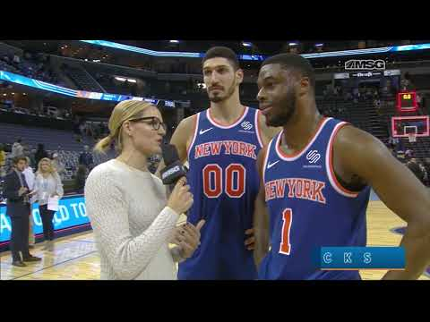 Enes Kanter & Emmanuel Mudiay React To Big Win Over Memphis | New York Knicks Post Game