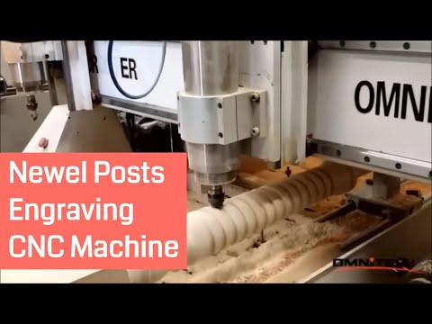 Newel Posts Processed by OMNI CNC router