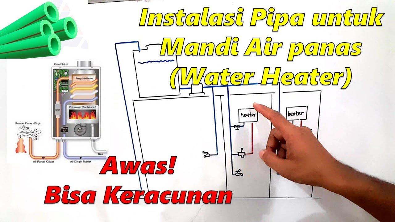 Instalasi Pipa Untuk Mandi Air Panas Gas Water Heater Youtube Instalasi pemanas air gas
