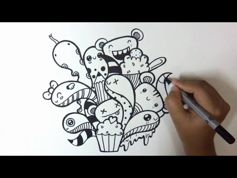 Make A Doodle Art Tutorial Hd Youtube