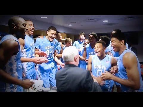 UNC Men's Basketball: Locker Room Celebration after 80-68 win at N.C. State