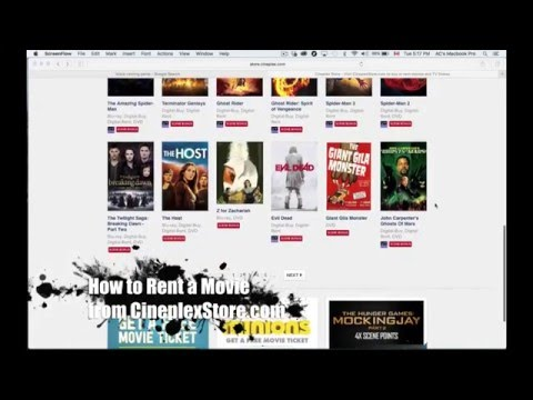 How to Rent a Movie from CineplexStore.com