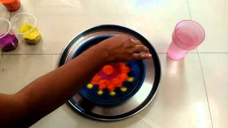 rangoli under water easy and simple for biggners