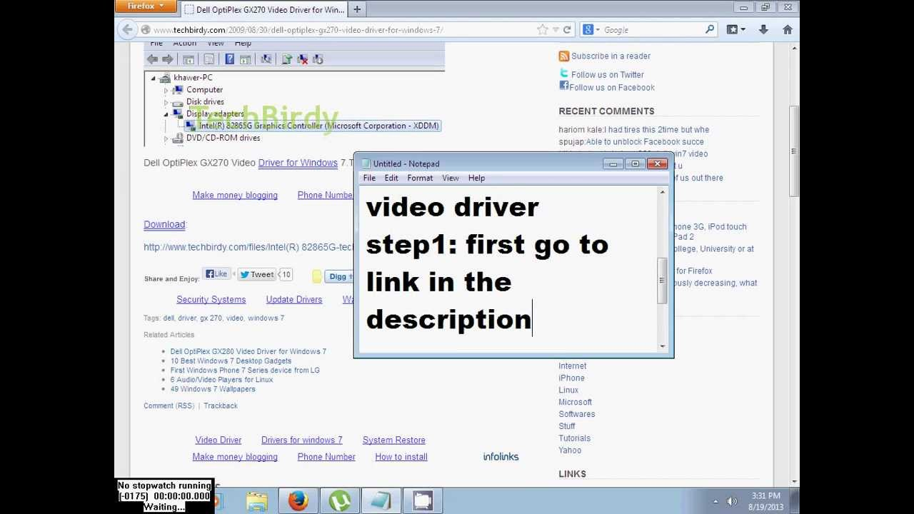 Optiplex gx270 audio driver for windows xp.