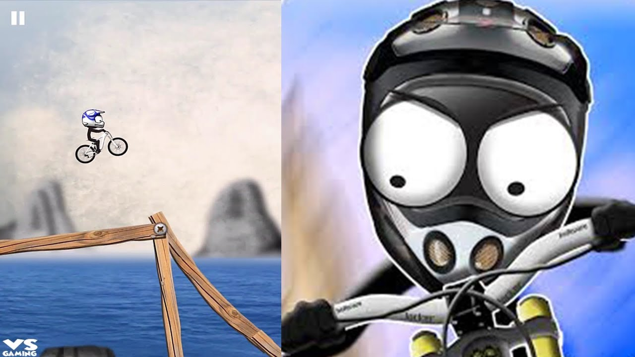 Stickman Downhill Racing Bike Unlocked And Fully Upgraded Hack