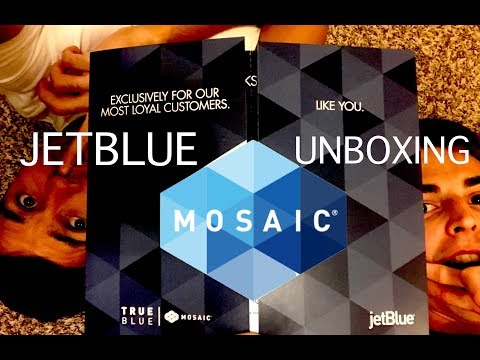 JetBlue Mosaic Welcome Kit Unboxing