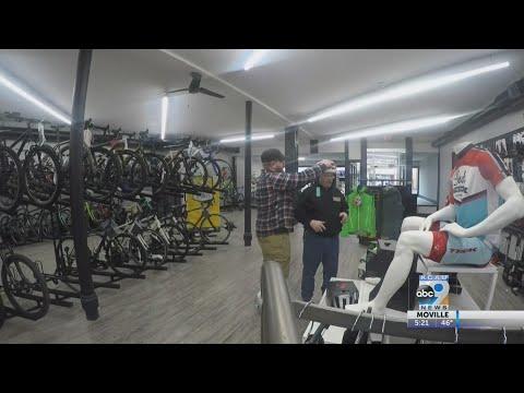 Bike Shop Reopens After Tornado