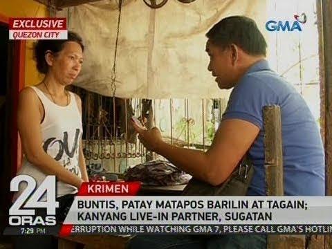 24 Oras Exclusive: Buntis, patay matapos barilin at tagain; kanyang live-in partner, sugatan