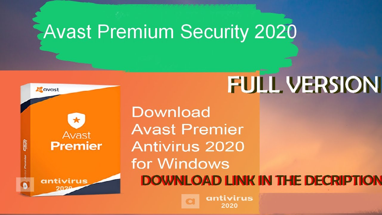 Avast Premium Security 2020 License Key Till 2033 100% ...