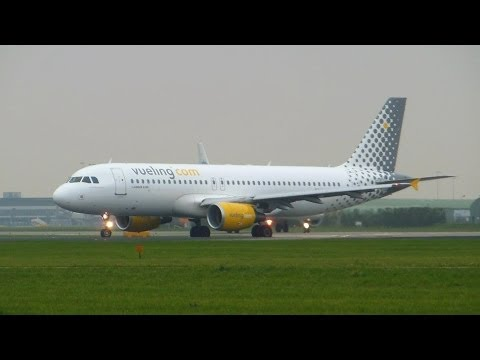 Vueling Airlines ► Airbus A320-200 ► Takeoff ✈ Amsterdam Airport Schiphol
