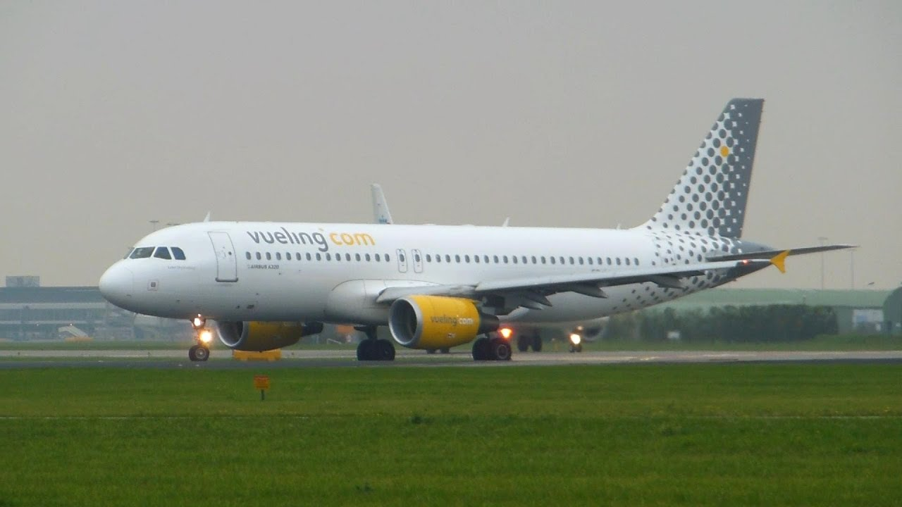 Vueling Airlines Vueling Airlines Airbus A320-200 Takeoff Amsterdam Airport