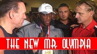 SHAWN RHODEN MR OLYMPIA VICTORY INTERVIEW!