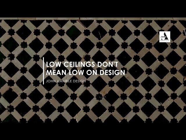 Low Ceilings Don't Mean Low On Design | How To Add Pattern To Small Rooms |Oh Wow