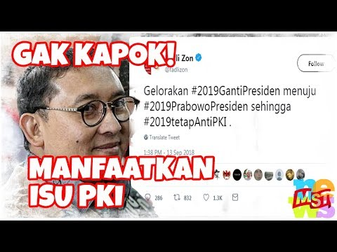 Gak Kapok!!! Kubu Prabowo-Sandi Kembali Manfaatkan Isu PKI! Dasar Produk Orba!