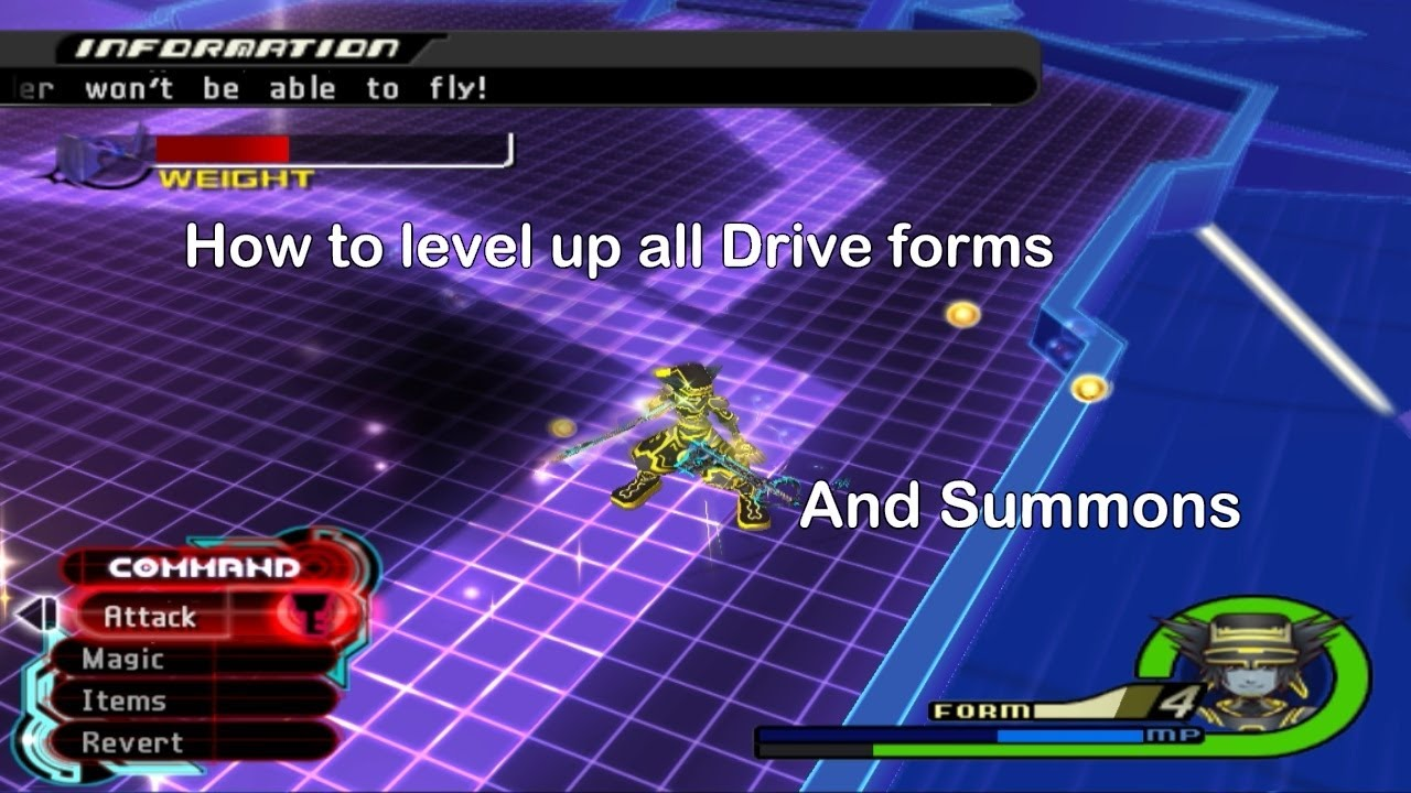 How to Level Drive Forms in KH2 and KH2: Final Mix - YouTube