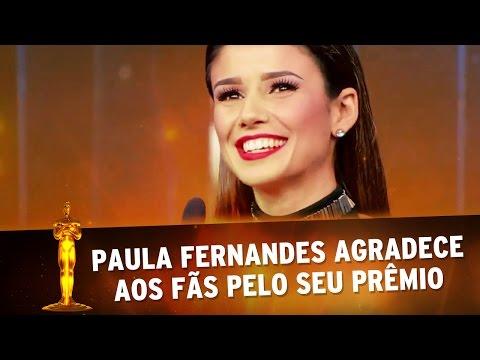 Troféu Imprensa 2016 - Paula Fernandes agradece aos fãs por ganhar Troféu Imprensa