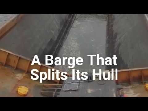 A Barge That Splits Its Hull