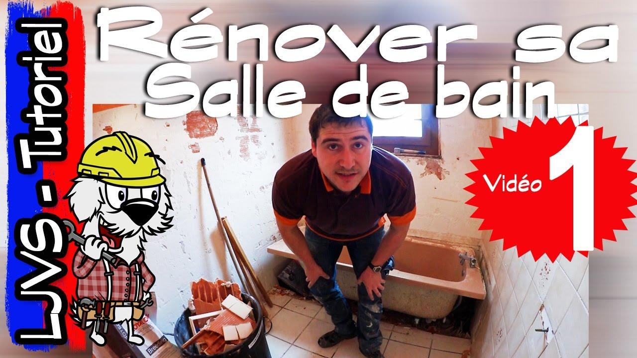Comment renover une salle de bain partie 1 tutoriel - Comment repeindre une salle de bain ...