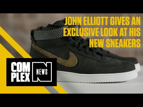 John Elliott Gives an Exclusive Look at His Nike Sneakers