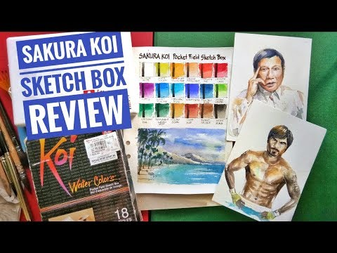 Yay or Nay? Sakura Koi Watercolor Pocket Field Sketch box Review thumbnail