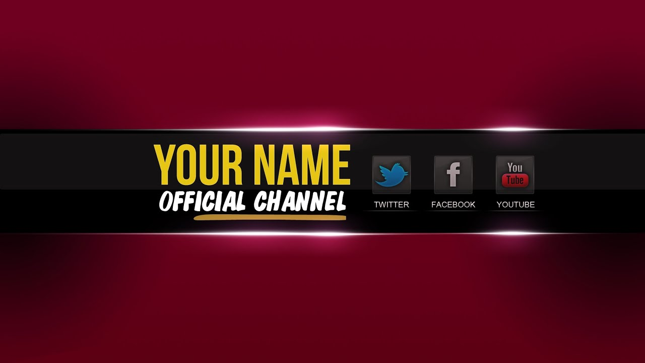 Free Youtube Banner Template PSD │New 2015 ツ│ + Direct ...