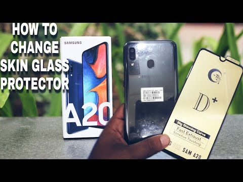 Samsung A20 New Mobile Change Glass Protector,, How To Change Mobile Glass Protector|| Samsung A20 |