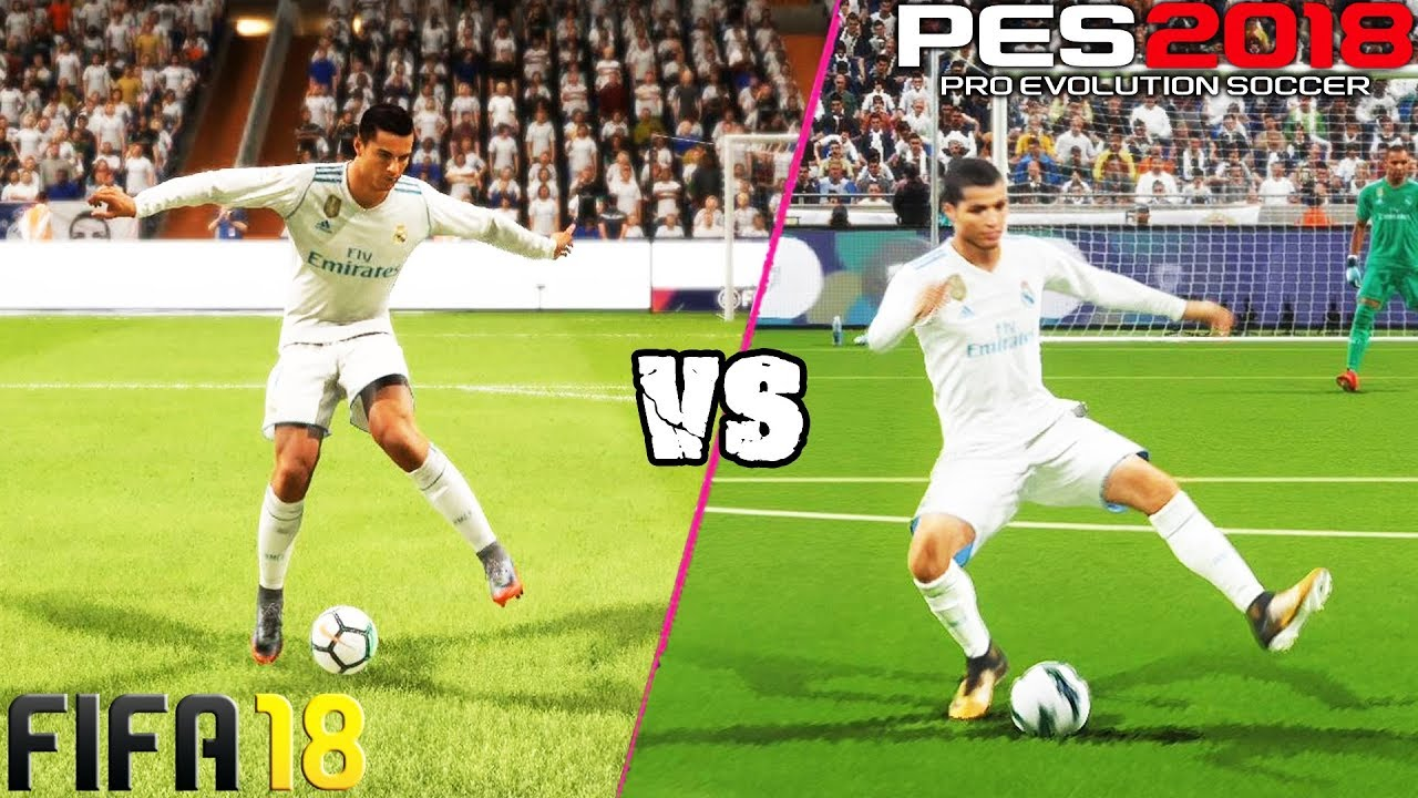 FIFA 18 vs  PES 18: Skill Moves