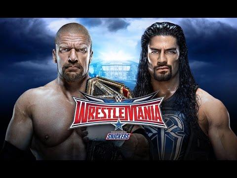 Download TRIPLE H vs ROMAN REIGNS - WWE WRESTLEMANIA 32 [WWE 2K16]