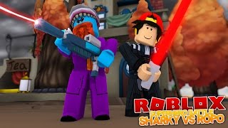 LITTLE ROPO DOES NOT STAND A CHANCE !! SuperHero Battle - Sharky Gaming | Roblox