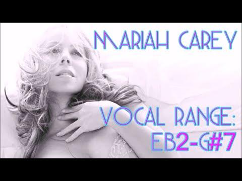 Mariah Carey: 5 Octave Range: E♭2-G♯7 (Studio)