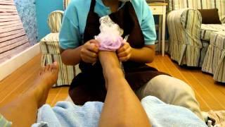 foot/leg paraffin experience