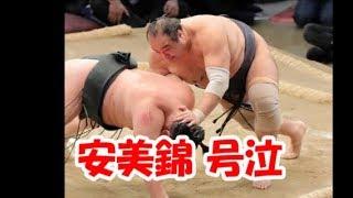 39歳・安美錦が涙、勝ち越しで敢闘賞獲得 関連動画 https://youtu.be/...