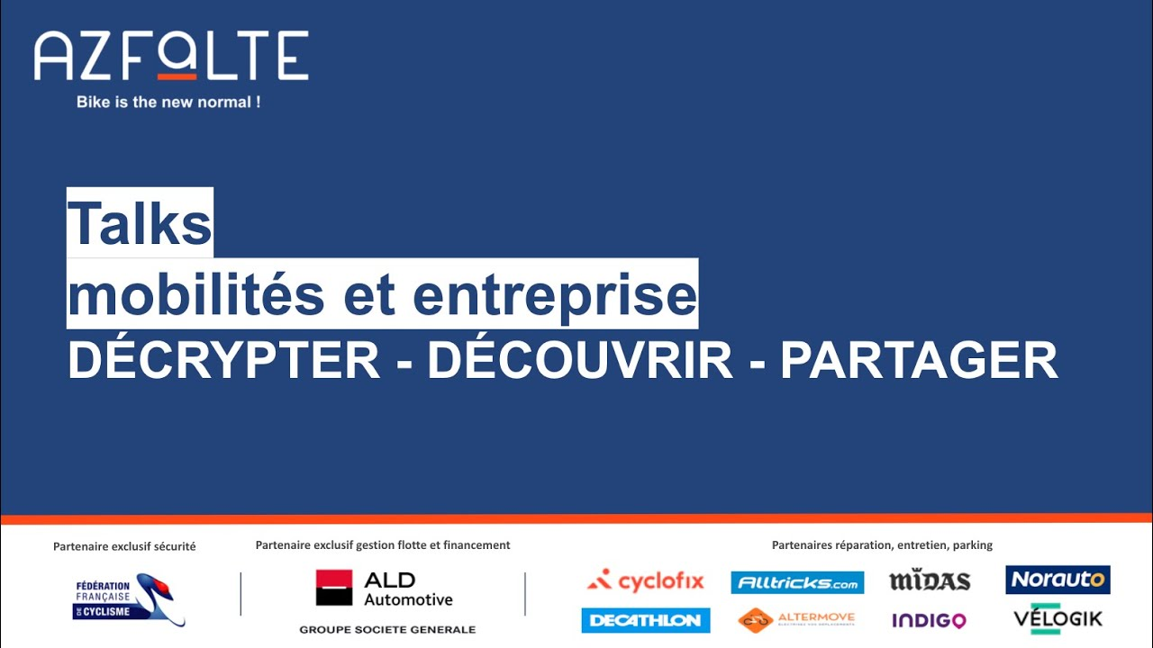 Replay TALK 2021-03-04 – Mobilités corporate post Covid, le vélo change la donne !