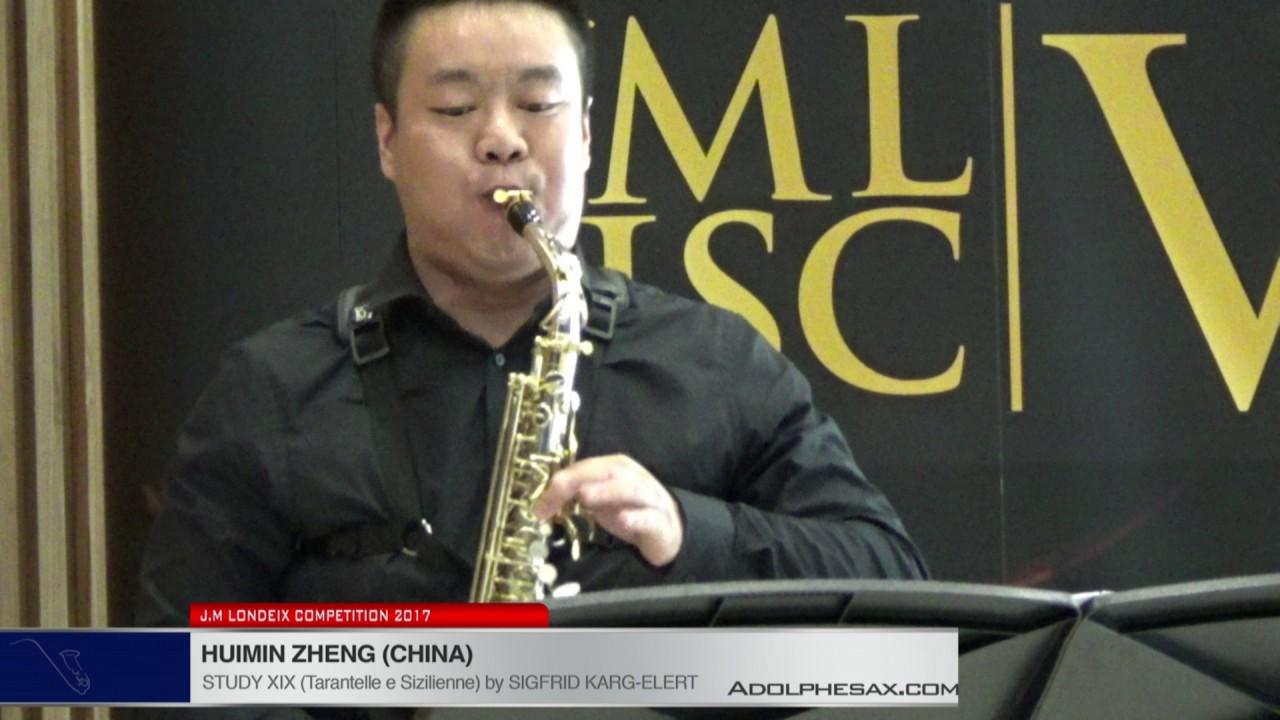 Londeix 2017 - Huimin Zheng (China) - XIX Tarantelle e Sizilienne by Sigfrid Karg Elert