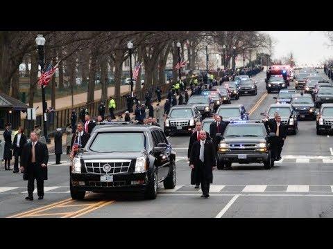 Donald Trump Motorcade Salt Lake City 12-4-17 * Trump Motorcade