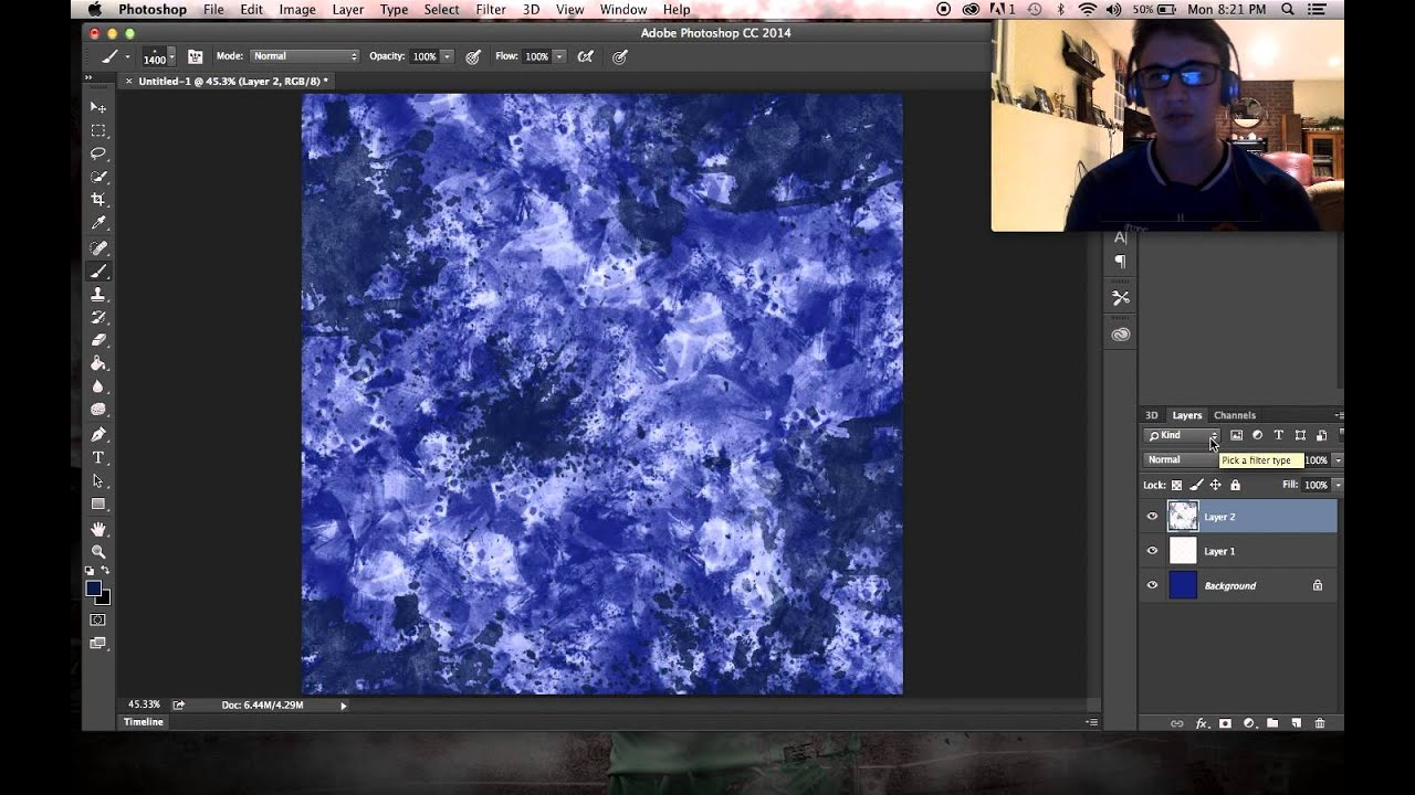 how to draw backgrounds in photoshop
