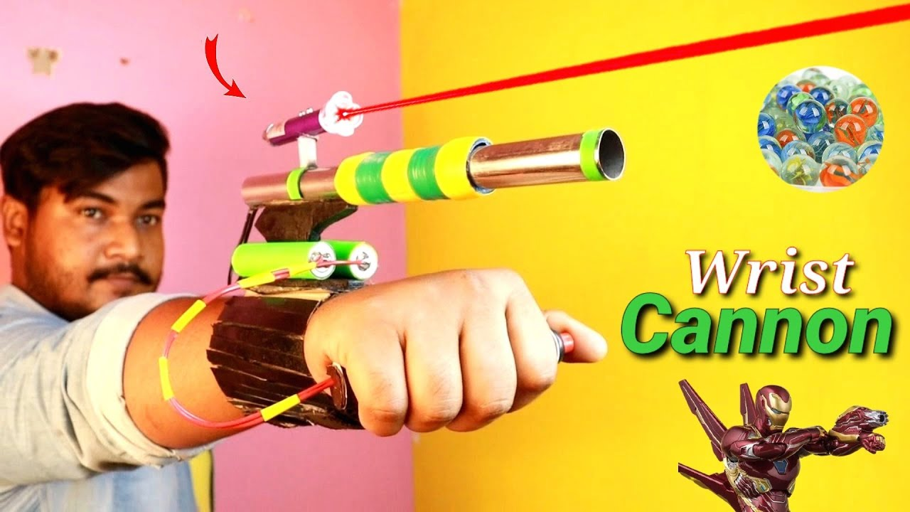 Make Iron Man Laser Assisted Toy Wrist Cannon | Omg! যেমন আওয়াজ তেমন পাওয়ারফুল 😱