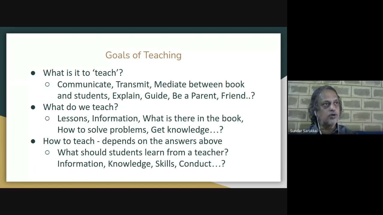 A Teacher Who Thinks - Sundar Sarukkai