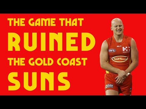 The Game That Ruined The Gold Coast Suns (AFL)