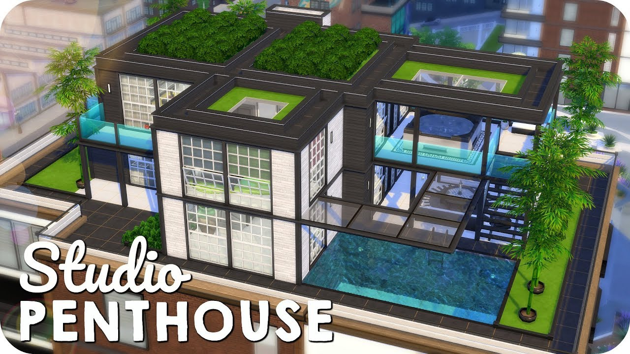 FASHION STUDIO PENTHOUSE | Sims 4 Moschino Speed Build