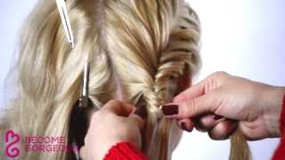 Double Fishtail Braid Updo Tutorial - Become Gorgeous