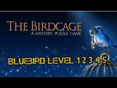 The Birdcage - Bluebird Level 1 2 3 4 5 Walkthrough All Letters & Gems