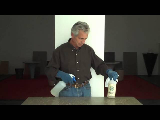 Applying Penetrating Sealer