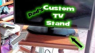 Dad's Custom Tv Stand  Show And Tell,  No Build Video