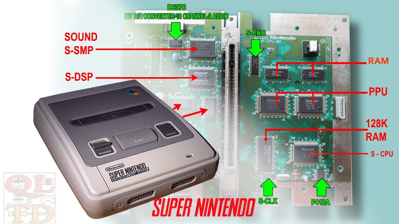 Nintendo SNES disassembly and chips identification
