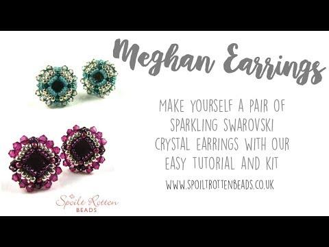 Meghan Earrings - Swarovski Crystal - Easy Beading Tutorial